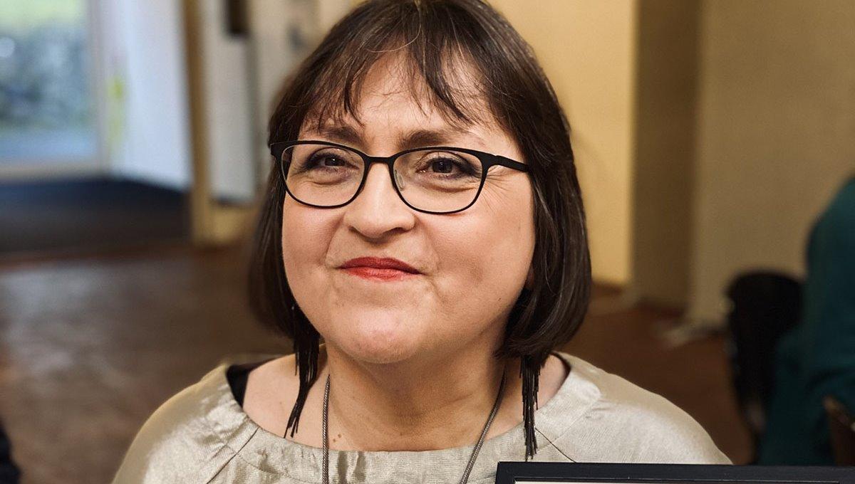 Ruth Thomsen heiðrað við fyrstu kærleikskúluni í 2020